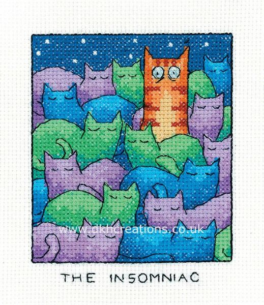 The Insomniac Cross Stitch Kit